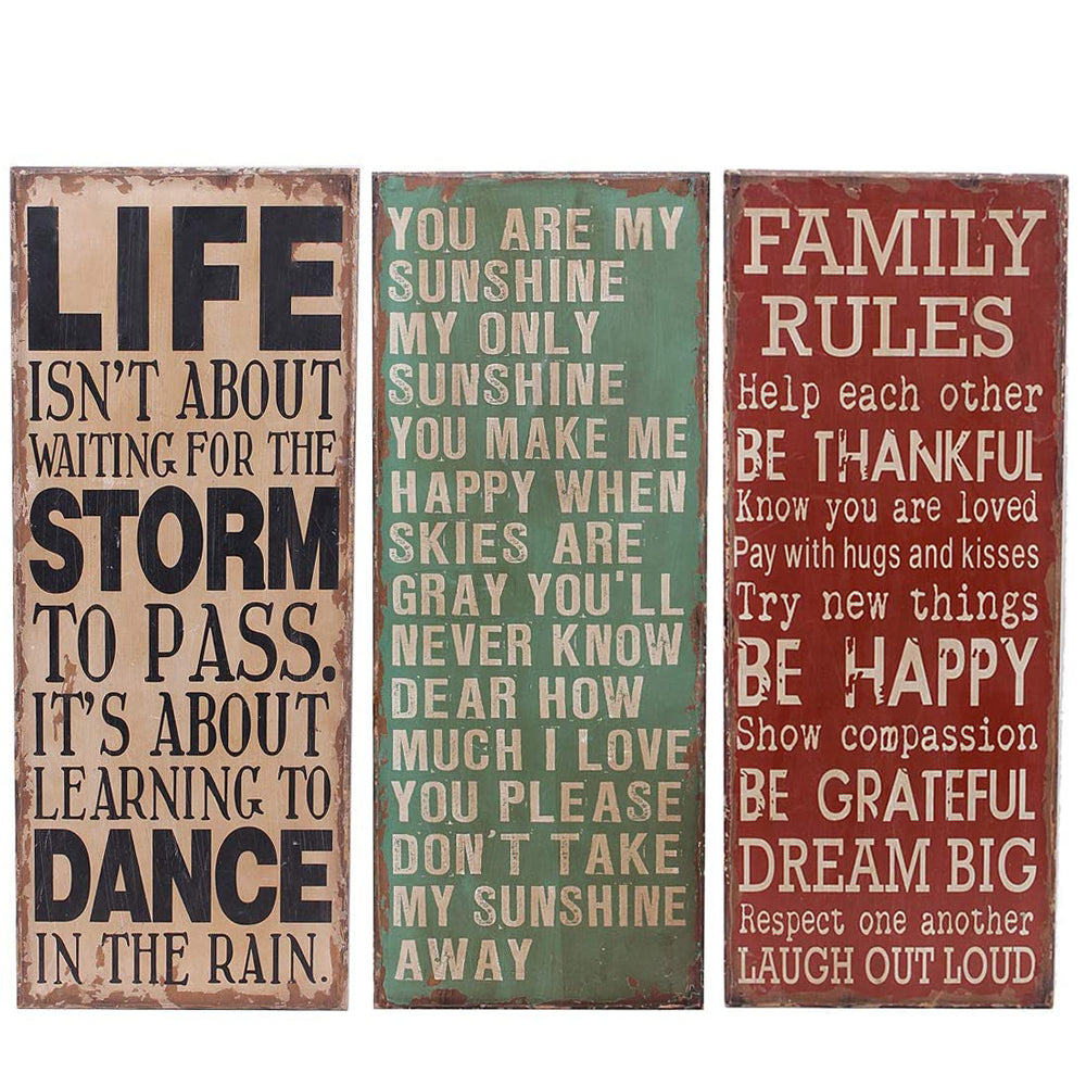 Vintage Wooden Wall Signs