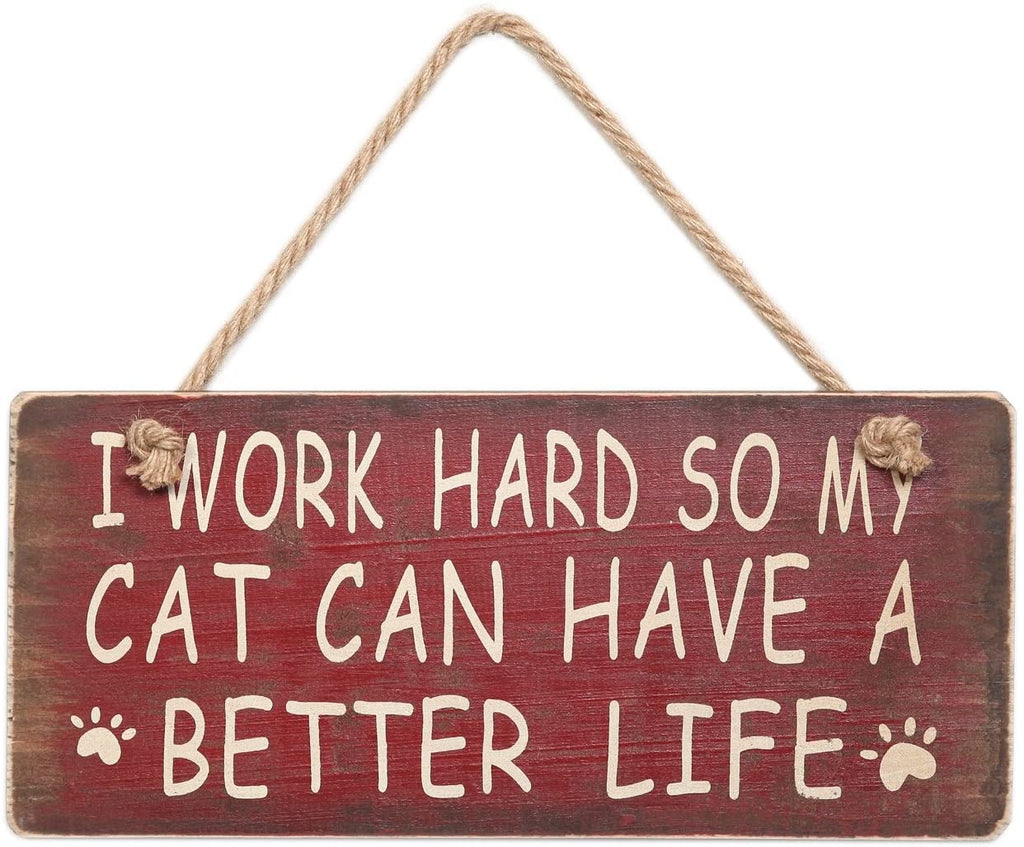 Wooden Wall Sign Cat / Dog lovers