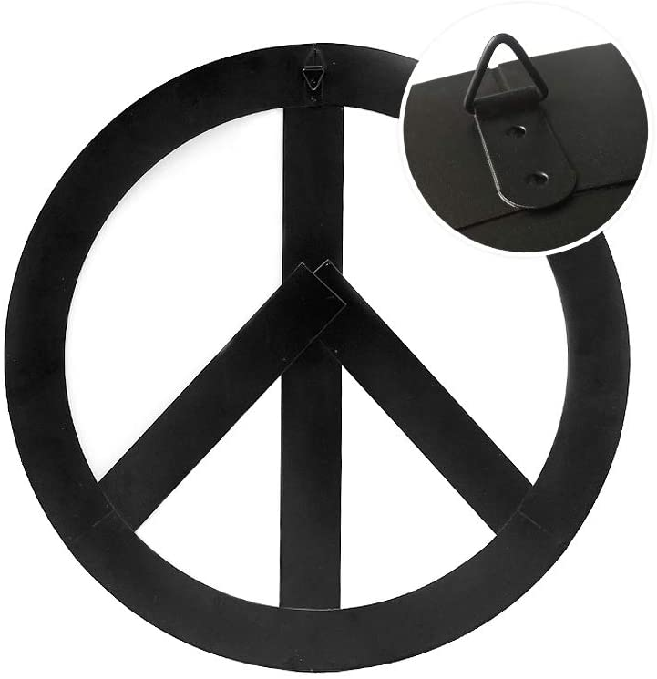 Metal Treasured Red Peace Sign
