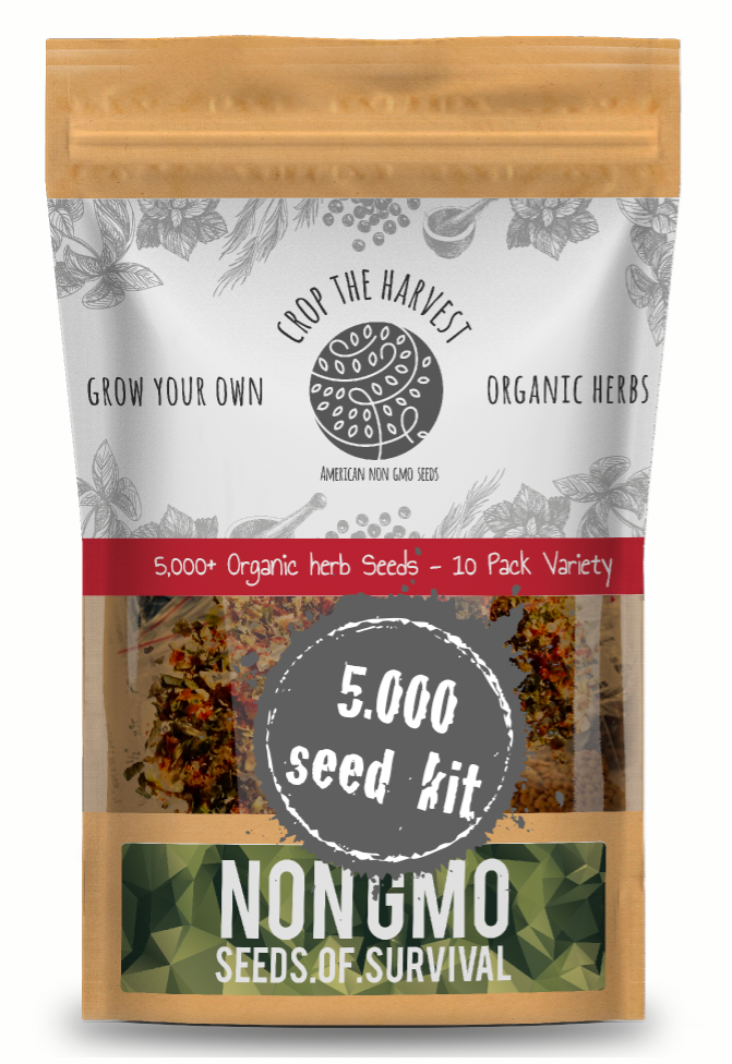 5,000+ S.O.S. Seeds Of Survival Organic Herb kit