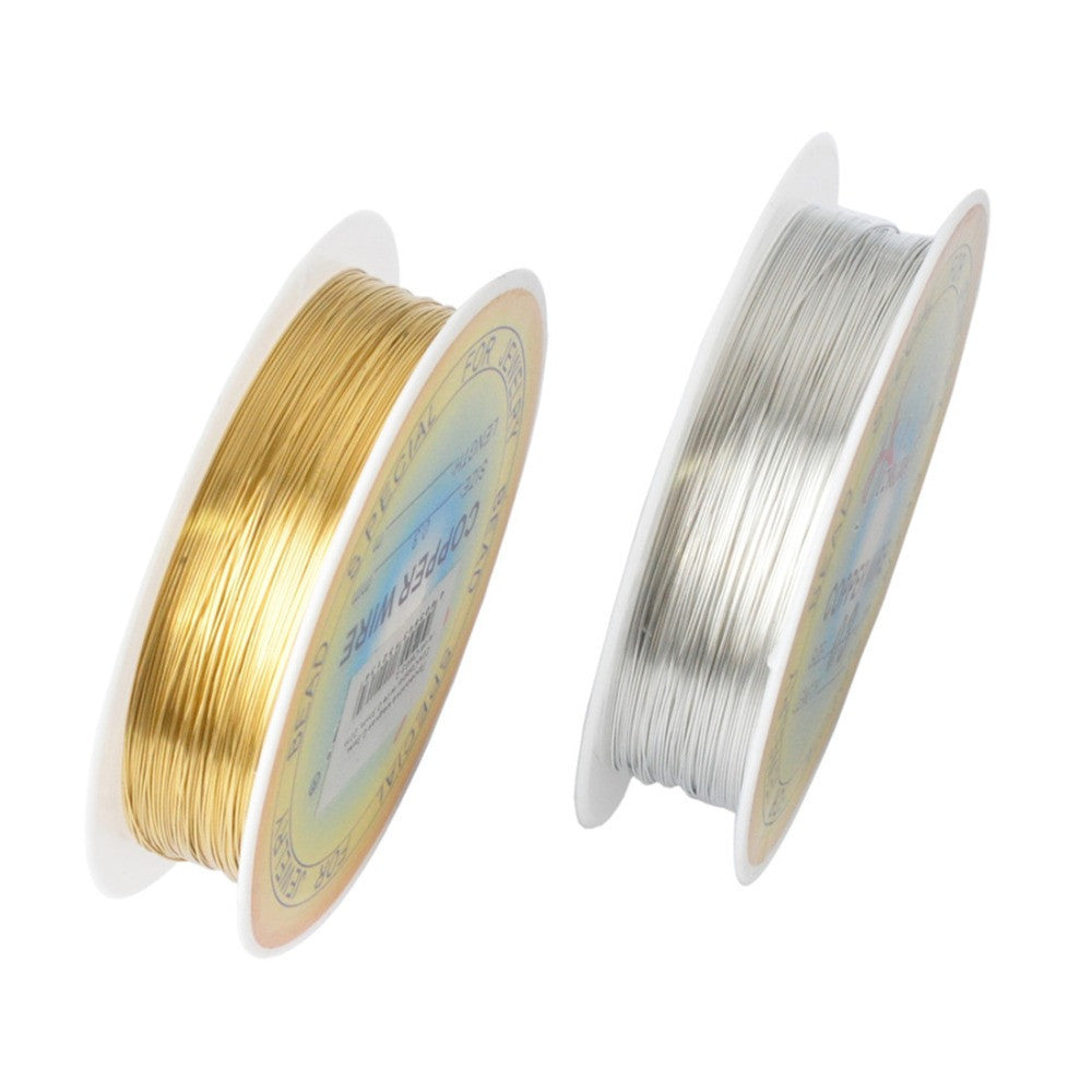 0.25/0.3/0.4/0.5/0.6mm 1 Roll Alloy Cord Silver Gold Plated Craft Beads Rope Copper Wires Beading Wire Jewelry Making Free Sh ln - 10MINUS: Online Shopping Destination with High-Quality