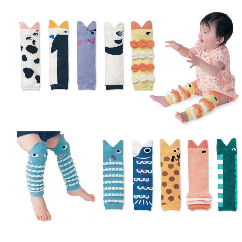 0-5Y Baby Leg Warmers Infant Toddler Safety Crawling Kids Knee Pads Protector Cute Animal Printed Knee pad baby legwarmers - 10MINUS: Online Shopping Destination with High-Quality