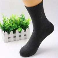 1Pair 24CM To 28CM  Autumn And Winter Cotton Tube Men Socks Solid Color Business Socks Thickening - 10MINUS: Online Shopping Destination with High-Quality