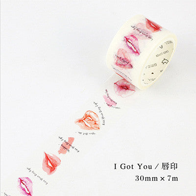 1.5-3cm*7m Sexy Lips washi tape DIY decoration scrapbooking planner masking tape adhesive tape label sticker stationery - 10MINUS: Online Shopping Destination with High-Quality