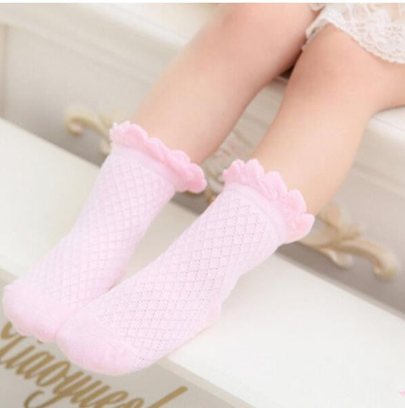 1-3 Years Baby Newborn Solid Breathable Cotton Socks Spring Autumn BW08 - 10MINUS: Online Shopping Destination with High-Quality