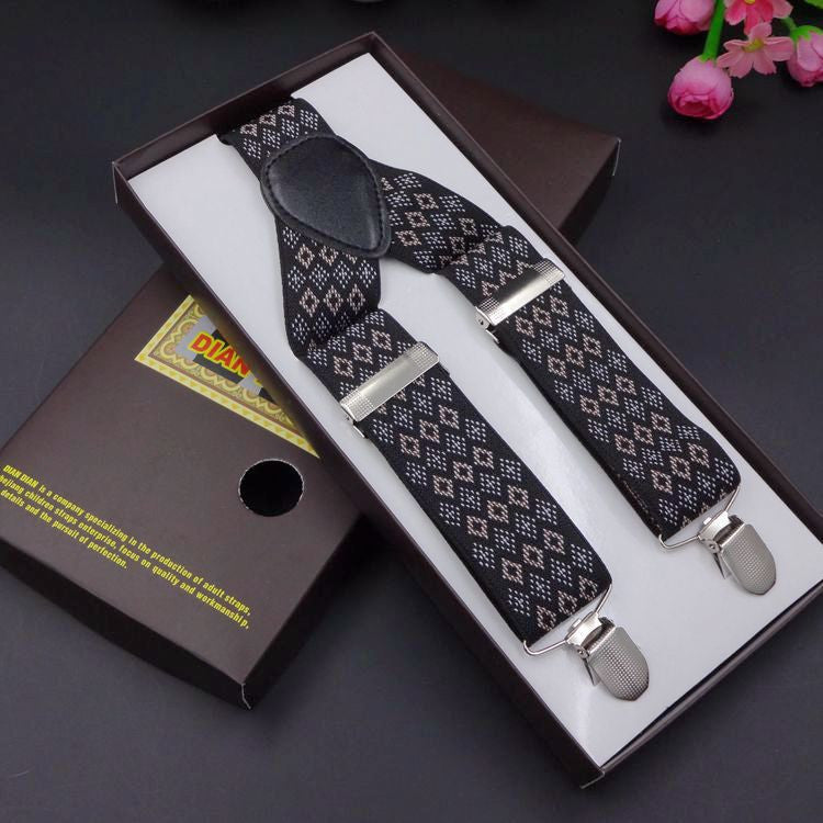 2016 Fashion Printed Suspenders Men Three Clips-on Braces Vintage Mens Suspender For Trousers Husband Male Suspensorio For Skirt - 10MINUS: Online Shopping Destination with High-Quality