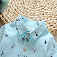 1-6Y 2017 New Fashion Kids Clothes Boys Summer Set Print Shirt Short Pants Baby Boy Clothing Set Toddler Boy Summer Clothes Set - 10MINUS: Online Shopping Destination with High-Quality