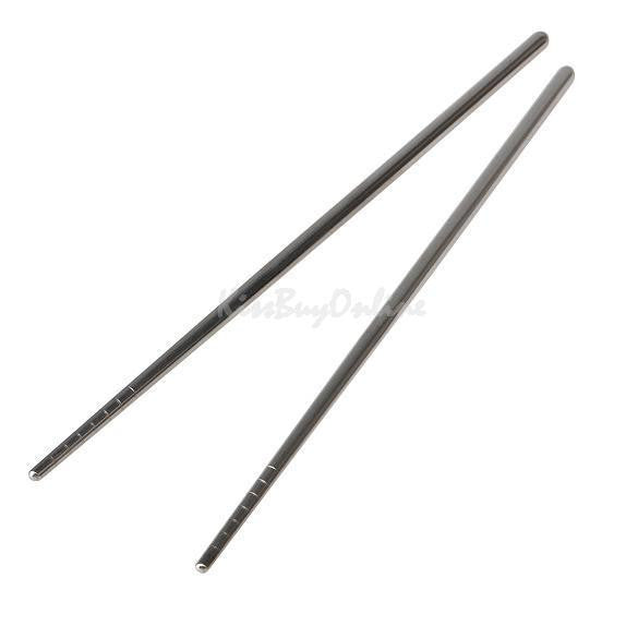 1 Pair Stainless Steel Chopsticks Non-slip Thread Stylish Design PTCT - 10MINUS: Online Shopping Destination with High-Quality