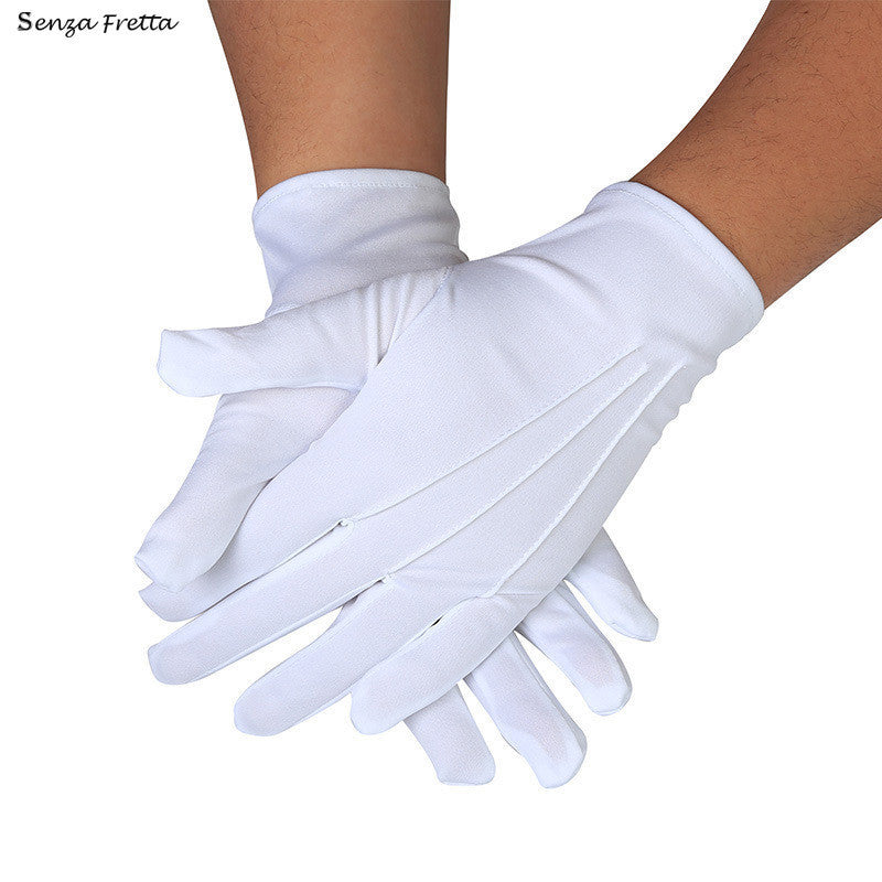 1 PAIR WHITE FORMAL GLOVES TUXEDO HONOR COLOR GUARD PARADE SANTA MENS INSPECTION D01507 - 10MINUS: Online Shopping Destination with High-Quality