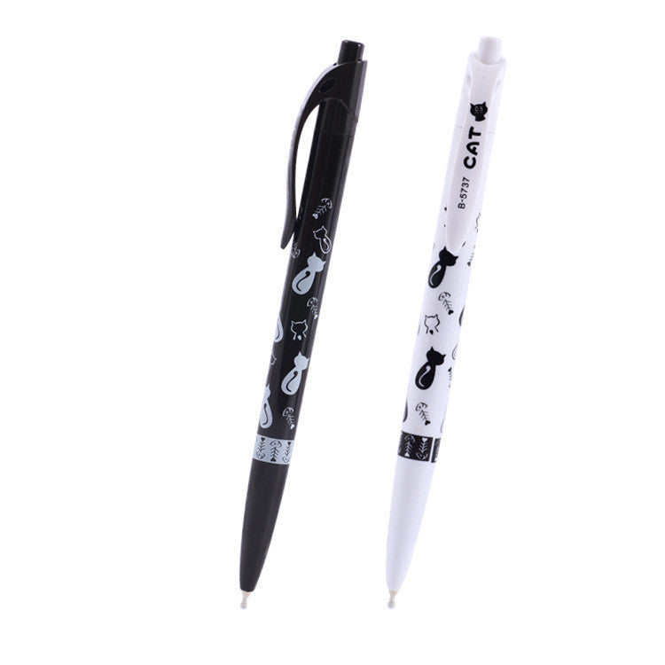 1 Pc Cute Black White Cat Ballpoint Pen Kawaii 0.5mm Blue Stationery Pen For Kids Office School Supplies Estojo Escolar - 10MINUS: Online Shopping Destination with High-Quality