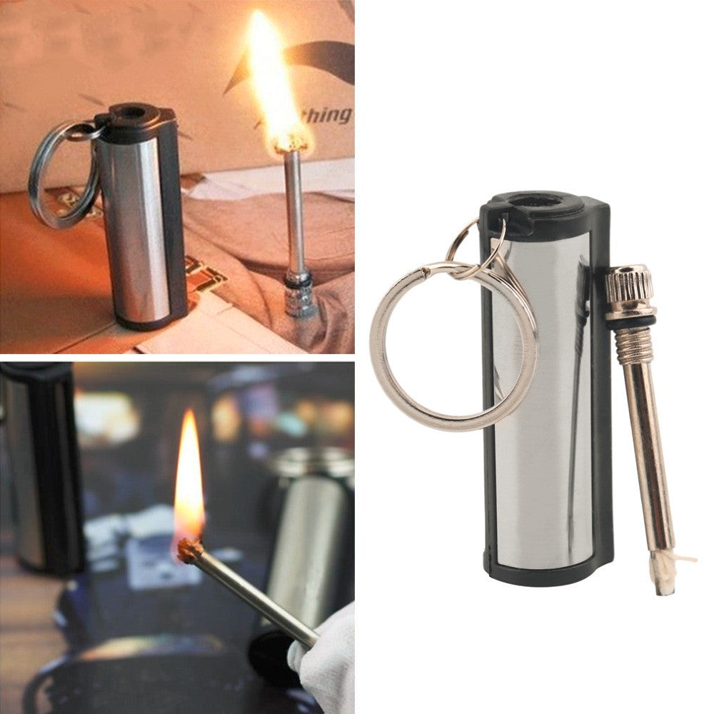 1 pc New Stainless Steel Permanent Survival Camping Emergency Fire Starter Flint Match Lighter With KeyChain Free Shipping - 10MINUS: Online Shopping Destination with High-Quality