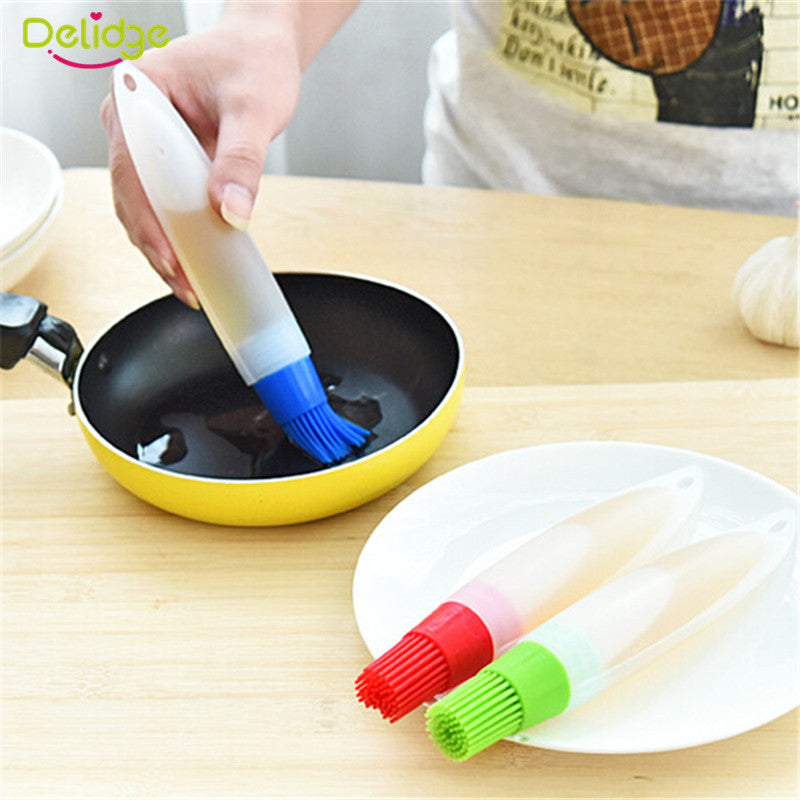 1 pc Silicone Baking Brushs Liquid Oil Pen  Cake Butter Bread Pastry Brush Baking Tool  BBQ Utensil Safety Basting Brush - 10MINUS: Online Shopping Destination with High-Quality
