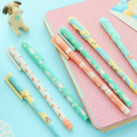 1 Pcs 0.35mm M&G Cute Kawaii Animal Sheep Fox Animal Gel Ink Pens Writing Office School Supplies Stationery For Kids Red Black - 10MINUS: Online Shopping Destination with High-Quality