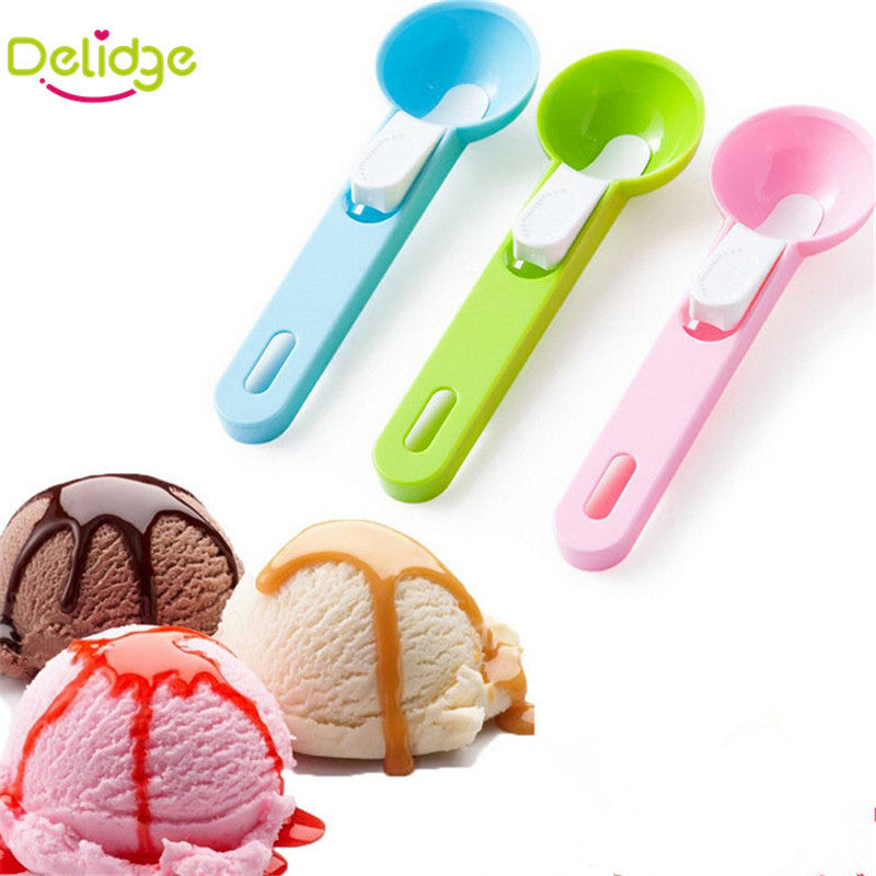1 pcs Colorful Ice Cream Spoon Food -Grade Plastic Dig Ice Cream Ball Watermelon Fruit Digging Spherical Shape Cream Stack Tools - 10MINUS: Online Shopping Destination with High-Quality