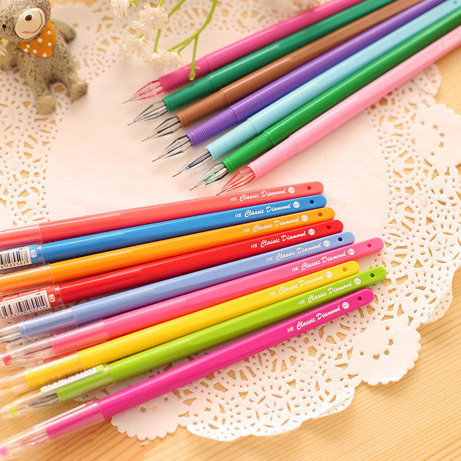 1 Pcs Colorful Multicolor Candy Color Rainbow Cute Gel Ink Pen Kawaii Korean Japanese School And Office Supplies Stationery - 10MINUS: Online Shopping Destination with High-Quality