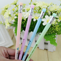 1 Pcs Cute Kawaii Aihao Pencil Style 0.5mm Eraserble Gel Ink Pens With Gel Pen Erasers Office School Supplies Stationery Kids - 10MINUS: Online Shopping Destination with High-Quality