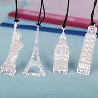 1 PCS DIY Statue of Liberty Leaning Tower of Pisa Metal Bookmark for Book Creative Items Lovely Korean Stationery Gift Package - 10MINUS: Online Shopping Destination with High-Quality