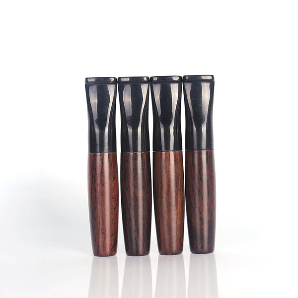 1 Pcs Ebony Pipe Filter Wood Smoking Pipes Herb Tobacco Pipe Cigar Gifts Narguile Weed Grinder Smoke Cigarette Holder Mouthpiece - 10MINUS: Online Shopping Destination with High-Quality