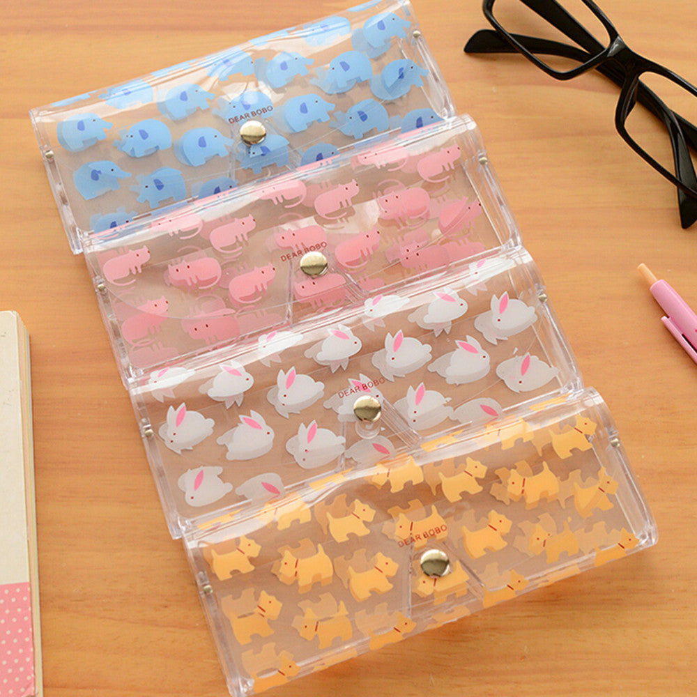 1 Pcs Kawaii Cartoon Animals PVC Glasses Box Cute Girl's Transparent Glasses Case Protable Eyewear Boxes - 10MINUS: Online Shopping Destination with High-Quality