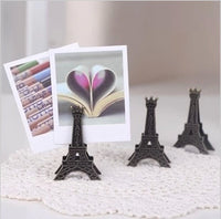 1 PCS Korea Stationery Vintage Effiel Tower Paris Metal Memo Paper Clips for Message Decoration Photo Office Supplies Accessorie - 10MINUS: Online Shopping Destination with High-Quality