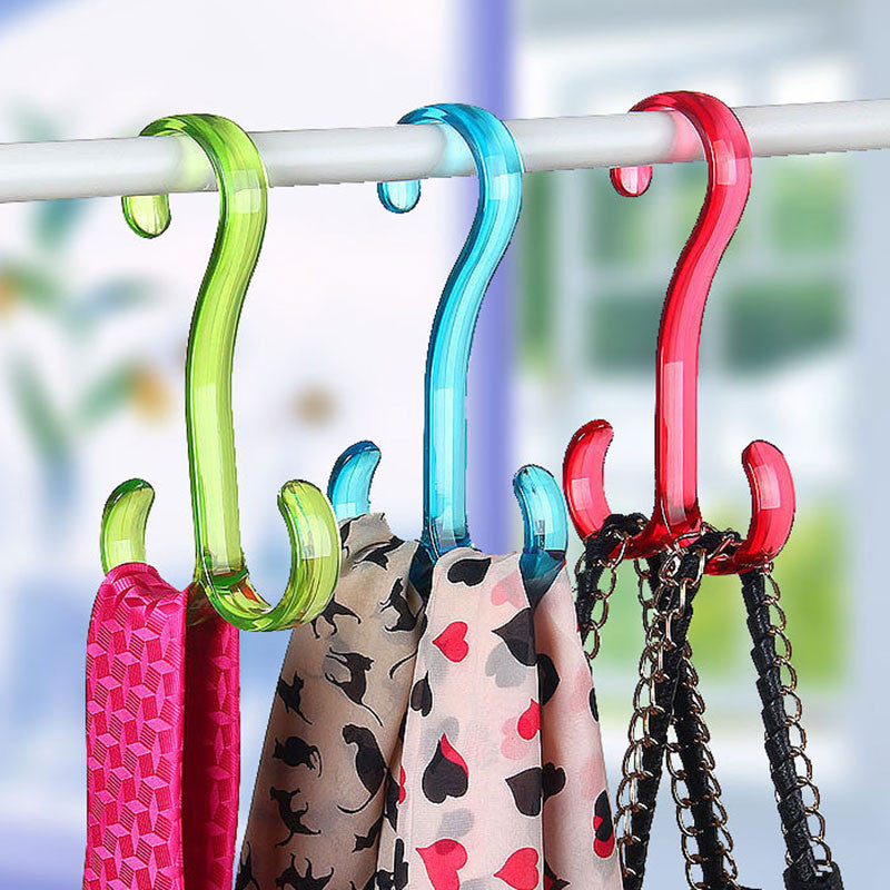 1 pcs Nordic contracted double plastic hook Multi-functional Hang the hook Clothing Hanger Sundry Hanging Hooks Free shipping - 10MINUS: Online Shopping Destination with High-Quality