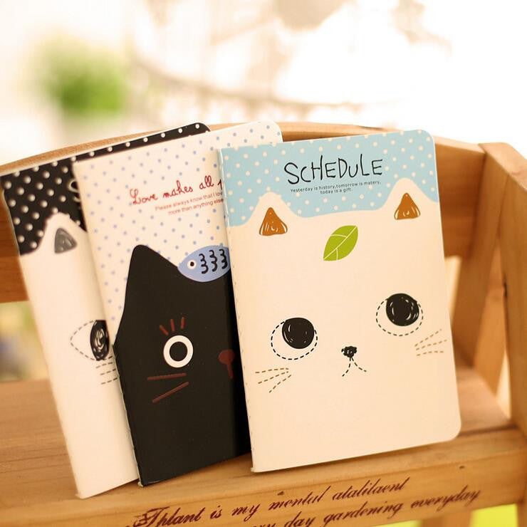 1 Piece New Korean Stationery  Planner Agenda Notepad Office School Creative Cartoon Cat Style Filofax Notebook Diary Students - 10MINUS: Online Shopping Destination with High-Quality