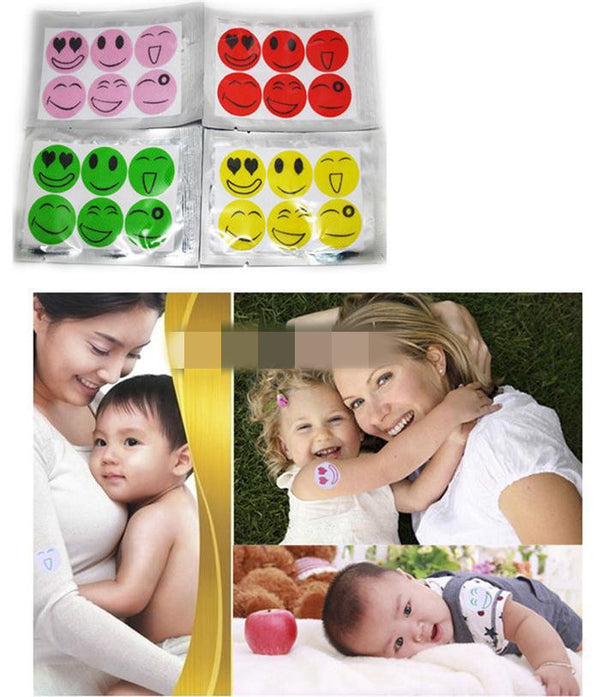 1 Set 6pcs New Hot Mosquito Repellent Patch Smiling Face Drive Midge Mosquito Killer Cartoon Anti Mosquito Repeller Sticker - 10MINUS: Online Shopping Destination with High-Quality