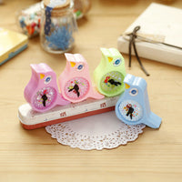 1 X Kawaii Birds Alarm Clock Hand Pencil Sharpener Child Stationery Escritorio Papeleria for Kids Creative Item Gift Stationery - 10MINUS: Online Shopping Destination with High-Quality