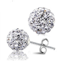 10 Color 8 MM Shamballa Earrings Micro Disco Ball Shamballa Round CZ Stud Earrings For Women Girls Fashion Jewelry Wholesale - 10MINUS: Online Shopping Destination with High-Quality