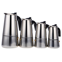 100/200/300/450ML Stainless Steel Moka Coffee Maker Mocha Espresso Latte Stovetop Filter Coffee Pot Percolator Tools Pots - 10MINUS: Online Shopping Destination with High-Quality