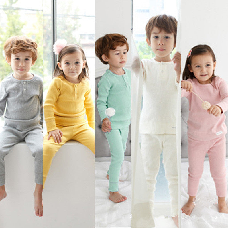 100% Cotton Spring Winter Kids Pajamas Long Sleeve Home Clothing Set  Pijama High Waist Kids Robes Boys Girls Sleepwear o-Neck - 10MINUS: Online Shopping Destination with High-Quality