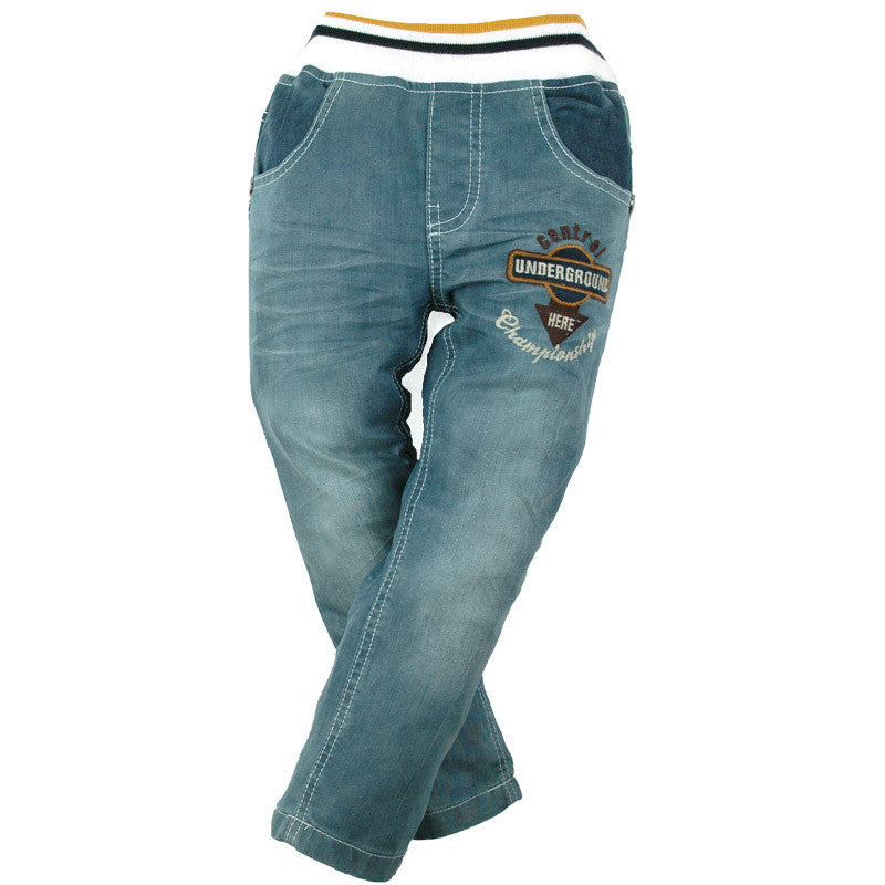 12M-8Y Boys Denim Trousers Embroidery Casual Jeans 4 Pockets Carotte Teen children Elastic waist High quality Brand Pants MH9601 - 10MINUS: Online Shopping Destination with High-Quality