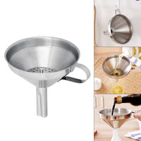 "14cm/5.5"" Stainless Steel Kitchen Oil Funnel with Detachable Strainer/Filter Kitchen Funnel for Perfume Liquid Water Oil Filling - 10MINUS: Online Shopping Destination with High-Quality"