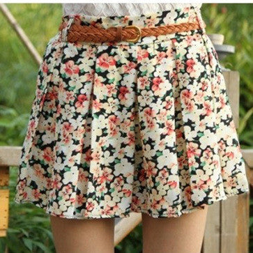 2016 NEW fashion women good quality Short skirts with lining floral print Anti emptied shorts for girl fifteen styles - 10MINUS: Online Shopping Destination with High-Quality