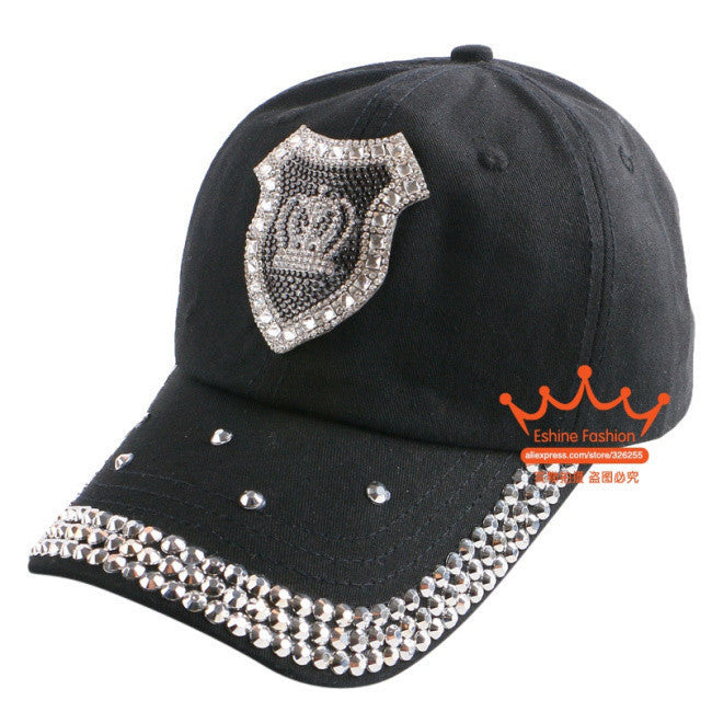 2016 new fashion women woman beauty baseball cap rhinestone star owl crown pattern luxury hip hop snapback summer brand gorra - 10MINUS: Online Shopping Destination with High-Quality