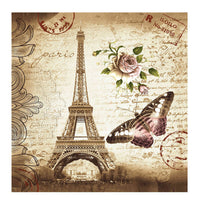 180 x 180 Waterproof Fabric Retro Eiffel Tower & Butterfly Shower Curtain Bathroom Curtain Free Shipping ASLT - Best price in 10minus