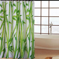 180 x 180cm Bamboo Forest  Waterproof Fabric Bathroom Shower Curtain With 12pcs Curtain Hooks Rings - 10MINUS: Online Shopping Destination with High-Quality