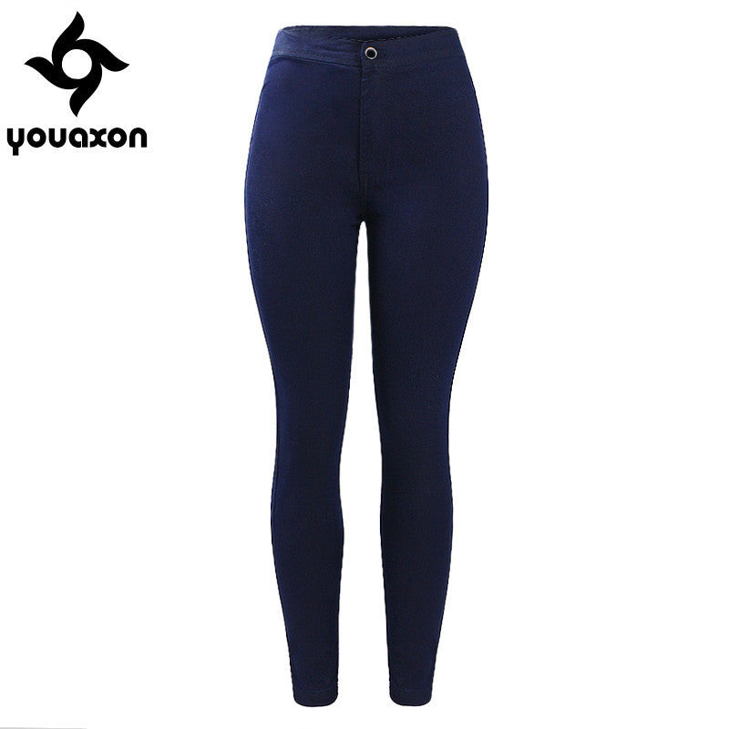 1894 Youaxon Women`s Basic Style High Waisted Stretch Jeans Denim Pants For Womens Free Shipping - 10MINUS: Online Shopping Destination with High-Quality