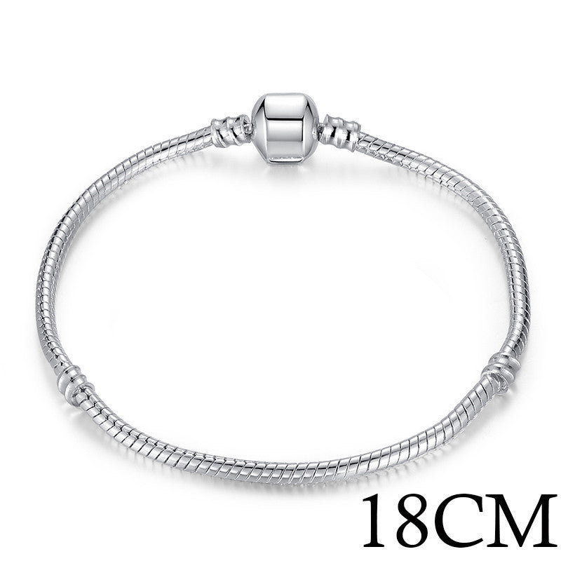 5 Style Silver Plated LOVE Snake Chain Bracelet & Bangle 16CM-21CM Pulseras Lobster PA1104 - 10MINUS: Online Shopping Destination with High-Quality