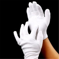 1Pair New Useful Elastic Cotton White Gloves Knitted Factory Industry Protective Work Gloves #42789 - 10MINUS: Online Shopping Destination with High-Quality