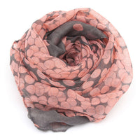 1PC 2017 HOT SALE Women Lady Spring Autumn Warm Soft Long Voile Neck Large Scarf Wrap Shawl Stole Pink Grey Dots Scarve Pashmina - 10MINUS: Online Shopping Destination with High-Quality