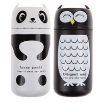 1PC Design Portable Cute Panda&Owl Thermos 220ML Stainless Steel Winter Vacuum Cup White / Black - 10MINUS: Online Shopping Destination with High-Quality
