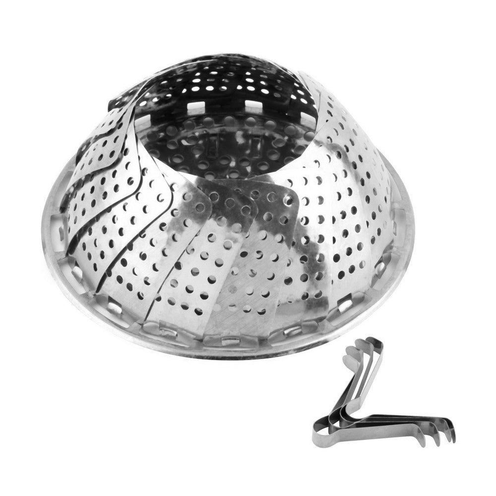 1pc Folding Stainless Mesh Food Dish Vegetable Egg Fruit Steamer Basket Cook Poacher Hot Search - 10MINUS: Online Shopping Destination with High-Quality