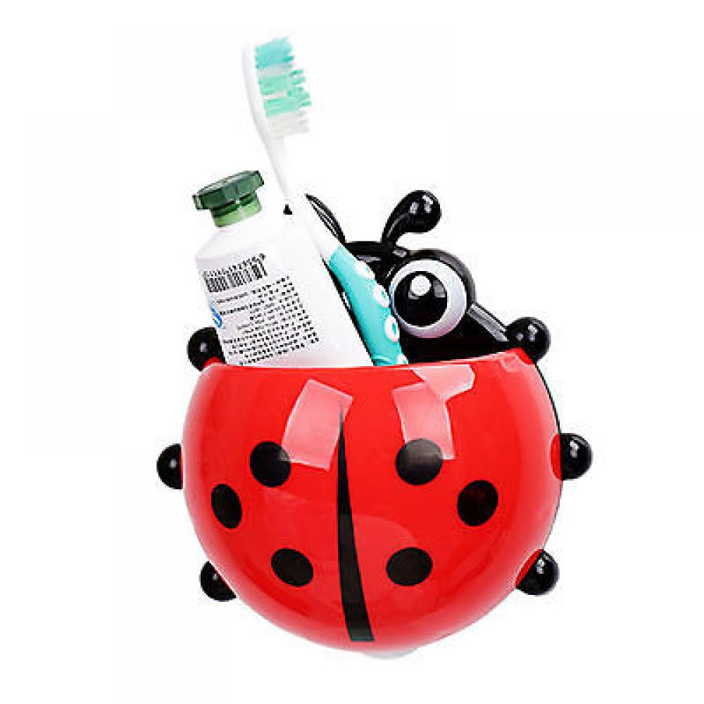 1PC Ladybug toothbrush holder Toiletries Toothpaste Holder Bathroom Sets Suction Hooks Tooth Brush container ladybird on sale - 10MINUS: Online Shopping Destination with High-Quality
