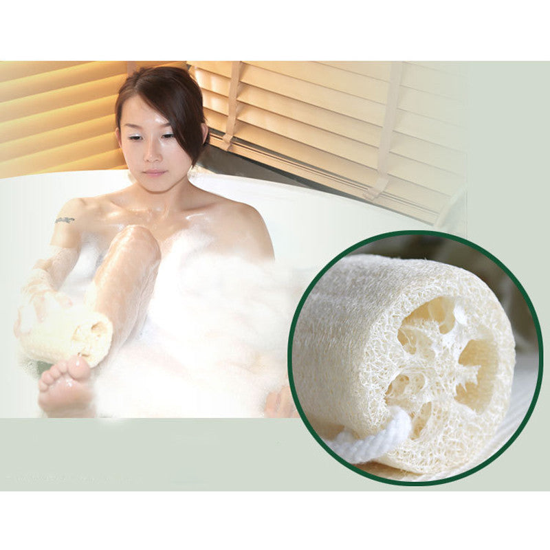 1PC Natural Loofah Luffa Bath Brush Body Brush Back Shower Body Wash Bath Ball Exfoliating Bath Sponge Bathroom Exfoliating - 10MINUS: Online Shopping Destination with High-Quality