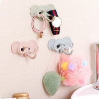 1pcs Can rotate elephant plastic hook cabinet door free nail Multi-functional Clothing Hanger Sundry Hanging Hooks Free Shipping - Best price in 10minus
