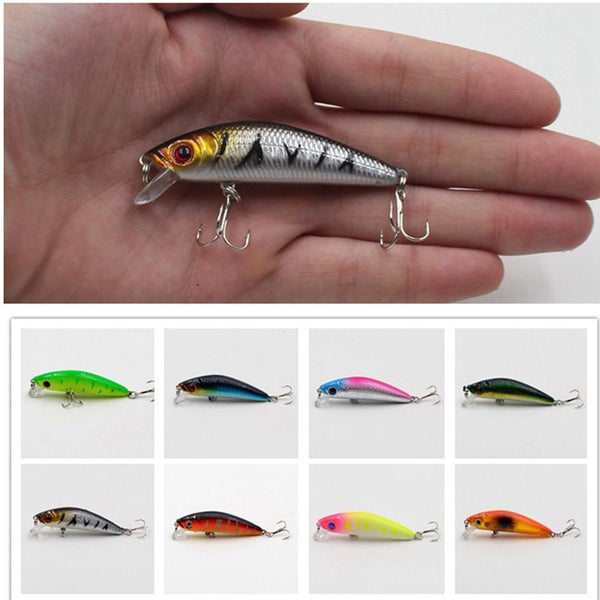 1Pcs Fishing Minnow Lure 8.5cm/7.7g Laser Reflective 3D Eyes Hard Baits 6#Hooks For Wobblers Pike Winter Sea Fishing Decoy Tools - 10MINUS: Online Shopping Destination with High-Quality