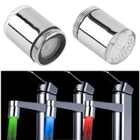 1pcs LED Light Water Faucet Tap Heads Temperature Sensor RGB Glow Shower Stream bathroom faucet  3 Color Changing - Best price in 10minus