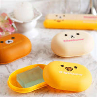 1pcs lovely Bear Pattern Home travel Soap Dishes waterproof leakproof soap holder soap box with Cover bathroom set - 10MINUS: Online Shopping Destination with High-Quality