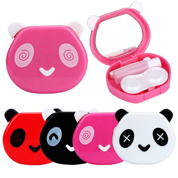 1PCS New Cartoon Cute Panda Candy Color  Travel Glasses Contact Lenses Box Contact lens Case for Eyes Care Kit Holder Container - Best price in 10minus